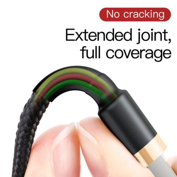 Baseus Premium Apple Kabel - 2 Meter, 1,5 Ampere Aufladung, Perlenabdeckung - schwarz