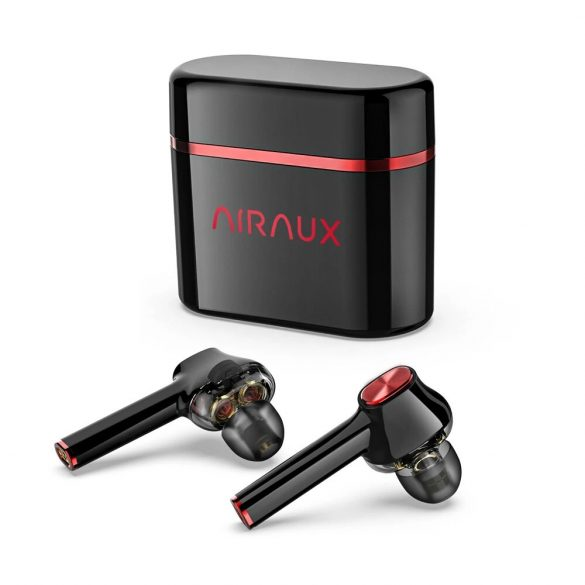 BlitzWolf® AirAux AA-UM5 - Kopfhörer mit zwei dynamischen Treibern. Touch Control, IPX5 - Schwarz-Rot