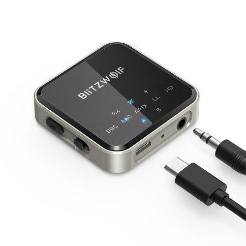 BlitzWolf® BW-BL3 Bluetooth Audioadapter (Empfänger) - Superior Chip, UND-Technologie, lange Lebensdauer, LED Licht