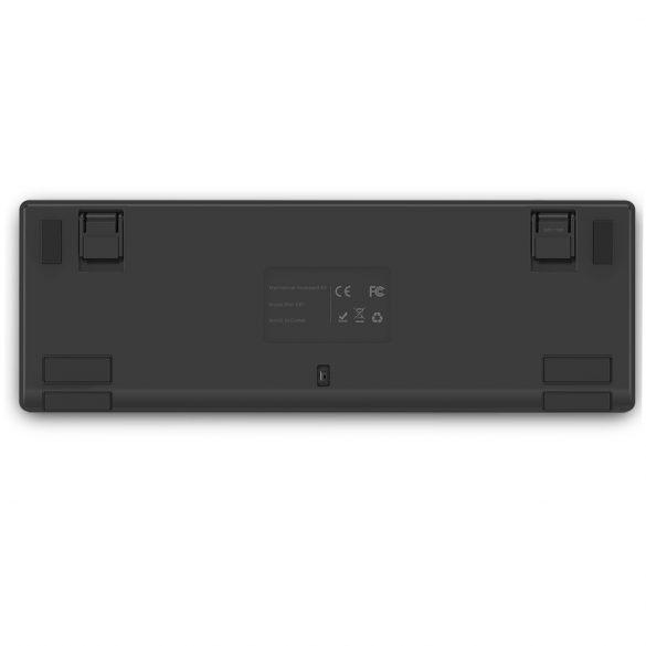 BlitzWolf BW-KB1 Gamer-Tastatur - Mechanische Tasten, RGB-LED-Beleuchtung, kabelgebunden und kabellos, IPX4 - Schwarz