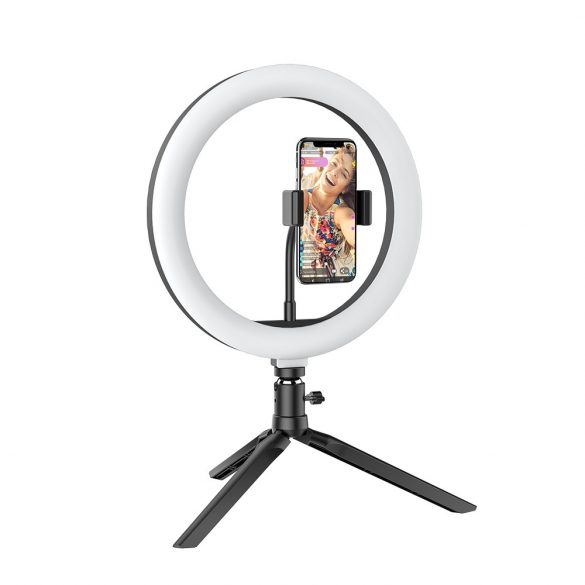 Desktop Flash LED Telefonhalter BlitzWolf® BW-SL3; 3 Farbtemperaturen, stufenloses Dimmen, 360 ° -Plattform