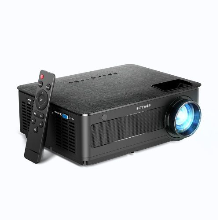 BlitzWolf® BW-VP10 - 1080P, 6500 Lumen  - Heimkinoprojektor HDMI + USB + Google Chromecast-Verbindung, integrierter Lautsprecher