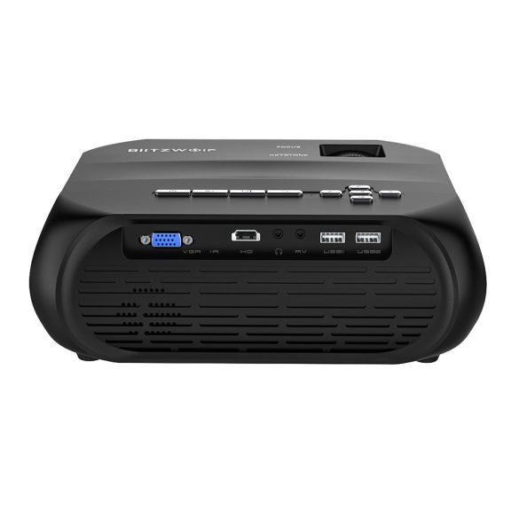 BlitzWolf® BW-VP11 - 720P, 6000 Lux - Heimkino-Projektor mit drahtloser + USB-Unterstützung und integriertem Lautsprecher