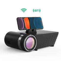 Blitzwolf BW-VP8 Projector Projektor 1280*720P mit Tragetasche unterstützt 1080P Multimedia LED 40000 Stunden Heimkino und Fußball Spiel Spaß Kompatibel mit HDMI/VGA/USB/AV