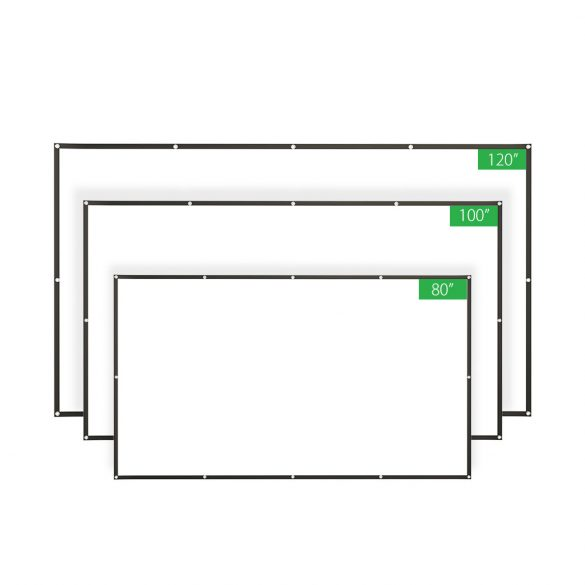 BlitzWolf® BW-VS2 Tragbare Projektionswand für 80-Zoll-16: 9-Projektion