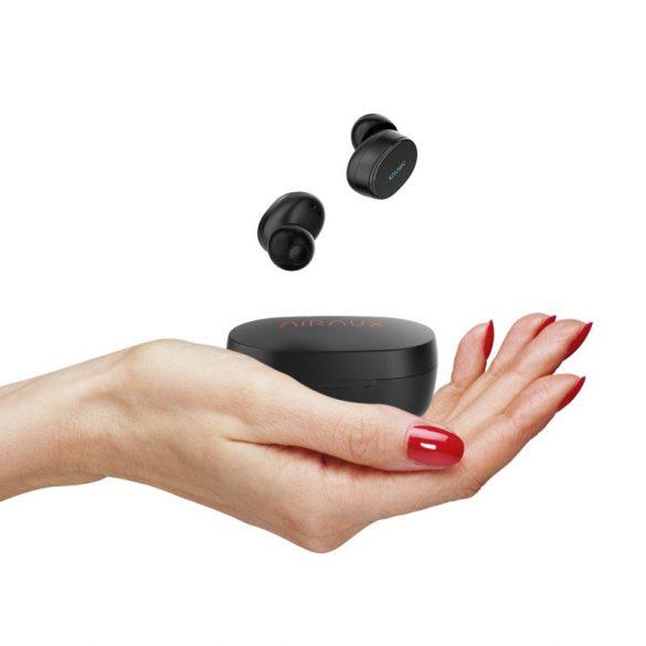 BlitzWolf® AIRAUX AA-UM4 Wahre drahtlose mini HiFi Stereo Kopfhörer mit Ladetasche - Schwarz