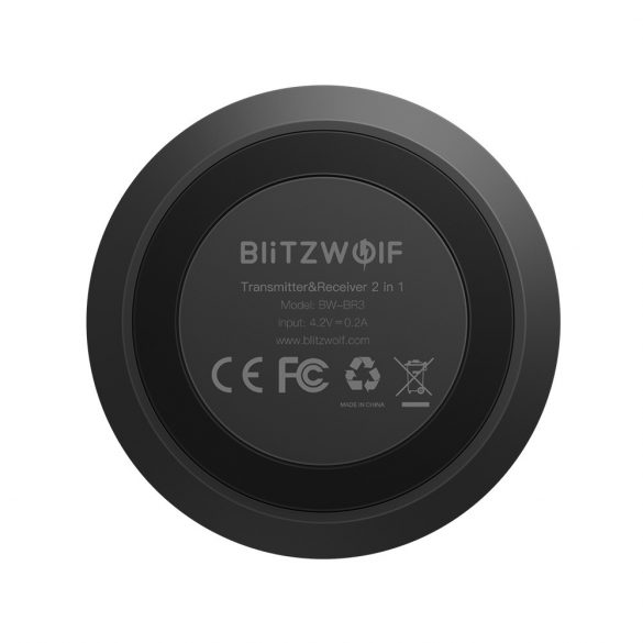 BlitzWolf BW-BR3 - Bluetooth Transmitter Empfänger, 2 in 1 Bluetooth 5.0 Receiver Sender AptX HD Bluetooth Audio Adapter