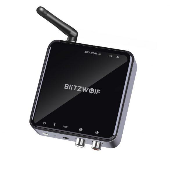 Bluetooth Transmitter Empfänger, BlitzWolf BW-BR4 Bluetooth 5.0 Receiver Sender AptX HD Bluetooth Audio Adapter