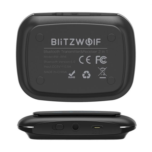 Bluetooth Transmitter Empfänger, BlitzWolf BW-BR6 Bluetooth 5.0 (aptX Low Latency for Bluetooth®) Receiver Sender AptX HD Bluetooth Audio Adapter