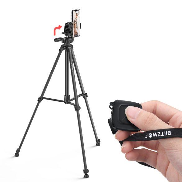 """Tripod für Kameras und Smartphones BlitzWolf® BW-BS0 Pro mit stabilem Stativ, abnehmbarer 1/4 """"-Platte, höhenverstellbarer, breiter Kompatibilität, Fernbedienung"""