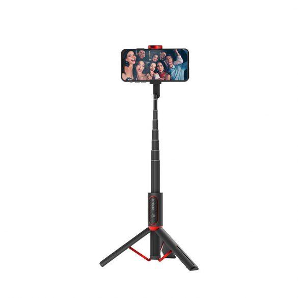 BlitzWolf® BW-BS10 Tragbarer Selfie-Stick mit ausziehbarem Stativ, verdeckter Telefonklemme, bis zu 720 mm Länge, abnehmbare Fernbedienung