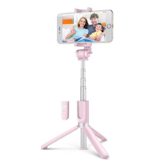 BlitzWolf BW-BS3 Rosa Bluetooth Selfie Stick Stativ