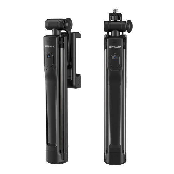 Stativ-Selfie-Stick mit Fülllicht - BlitzWolf® BW-BS8 Stativ-Selfie-Stick mit Fülllicht mit drei Helligkeitsstufen, stilvollem Design, Burst-Blinken und abnehmbarer Bluetooth-Steuerung