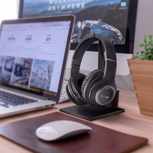 BlitzWolf Bluetooth Kopfhörer, Bluetooth 4.1 faltbar Wireless Stereo Headset drahtlose Kopfhörer Ohrhörer On Ear mit Mikrofon + Dual-Kanal Stereoanlage für TV / PC / Smartphones(Rot & Schwarz)