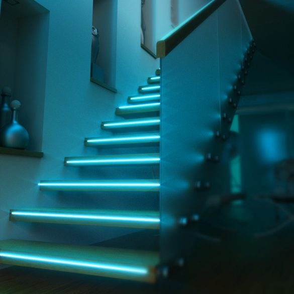 Smart LED-Lichtleiste - BlitzWolf® BW-LT11 smart LED-Lichtleiste mit 4000K Farbtemperatur, RGB-Farbe, Funktioniert mit Alexa & Google Assistant, APP-Steuerung, IP44-Wasserfest