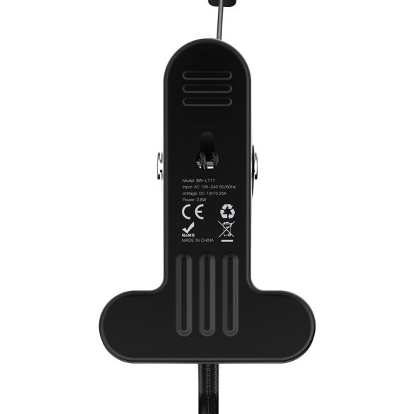 Flexible Lampe zum Aufstecken BlitzWolf® BW-LT17 Stabile Klemme, 3 Helligkeitsstufen, 4000K Farbtemperatur, Augenschutz, Touch-Taste, Freiwinkel