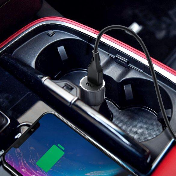 36 W QC3.0 + USB-Autoladegerät Typ C - BlitzWolf® BW-SD4 36 W QC3.0 PD2.0 Typ C + USB-Anschlüsse Mini-Autoladegerät mit hoher Ladegeschwindigkeit, kompaktem Design, elegantem Aussehen, robustem Materi
