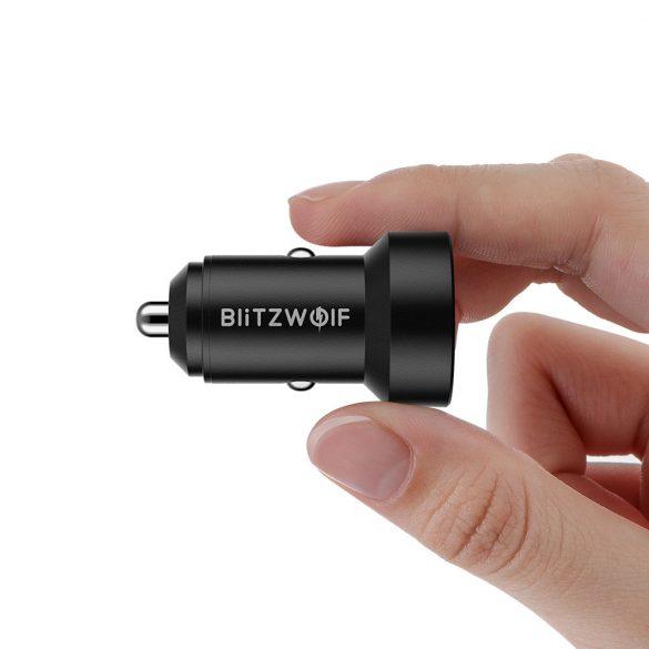 Autoladegerät 24W BlitzWolf® BW-SD6 mit 1xQ3.0- und 1xQ2.0-Schnellladetechnologie mit ehemaligem Display