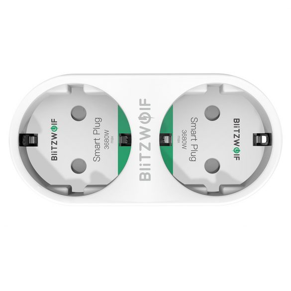 3840W EU WIFI Smart Socket - BlitzWolf® BW-SHP8 Wifi Smart Socket can integrate with Amazon Echo, Google Home and IFTTT.