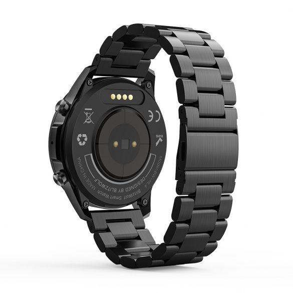 Blitzwolf® BW-HL4 (schwarz) Bluetooth Smartwatch - Metallarmband, IP67, Anruf- und Nachrichtenerinnerung, Musikwiedergabe, Muti-Sport-Modus, Gesundheitsdaten