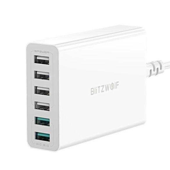 BlitzWolf BW-S15 USB Ladegerät, 60W, 6 port (2x QC3 + 4 norm. port)