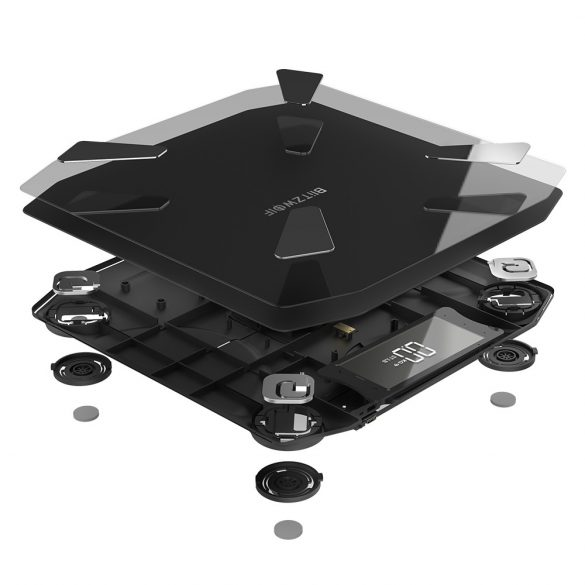 BlitzWolf® BW-SC3 Smart Scale WIFI mit 13 Körpermetriken, hoher Genauigkeit, APP-Steuerung, modernem Styling und USB-Aufladung