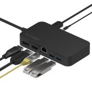 BlitzWolf® BW-TH7 7 in 1 Datenhub:  DC, USB, HDMI, Display, Jack, RJ45 ports