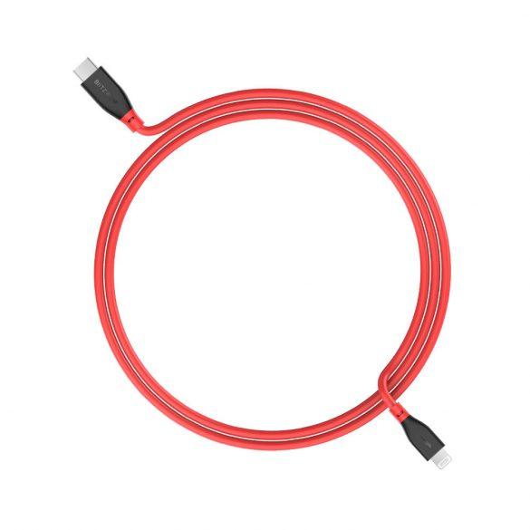 PD3.0 Typ C zu Lightning, BlitzWolf® BW-CL2 PD 3.0 1 Fuß / 0,3 m 3 Fuß / 0,91 m MFi-zertifiziertes Typ C zu Lightning-Kabel mit 3A PD-Aufladung, beständiger Datenübertragung, langer Lebensdauer, hochw