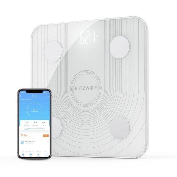 BlitzWolf® BW-SC1 - Körperfettwaage 1 BY ONE Wireless Körperanalysewaage mit iOS und Android APP,  Smart digitale Personenwaage