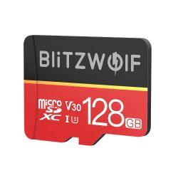 Speicherkarte mit Adapter BlitzWolf®BW-TF1 128 GB Speicherkarte mit Adapter, bis zu 80 MB / s Lesegeschwindigkeit + 20 MB / s Schreibgeschwindigkeit