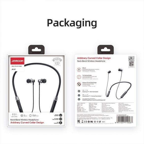 Joyroom JR-D7 red - Bluetooth Kopfhörer, V4.1 In Ear Kopfhörer magnetische Headset IPX5 AptX Stereo Sport Ohrhörer 8 Stunden Spielzeit mit Mikrofon