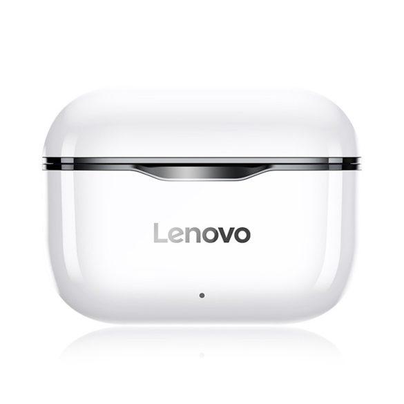 Lenovo LivePods LP1 Weiß - TWS Bluetooth-Ohrhörer IPX4 Wasserdichtes Sport-Headset Geräuschunterdrückung HIFI-Bass-Kopfhörer mit Mikrofon Typ-C-Aufladung
