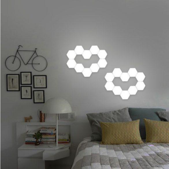 Ningbo Hexagonal Lamps - (10 Stück) Modulare Berührungsempfindliche Beleuchtung Magnetische Kreative Dekoration Wand Nachtlicht