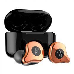 Sabbat E12 Ultra (Gold)with QI-wireless charging - TWS Kabellose Bluetooth-Kopfhörer In-Ear-Headsets Bluetooth 5.0 Auto-Pairing mit 750mAh-Ladebox Unterstützt Wireless Charge