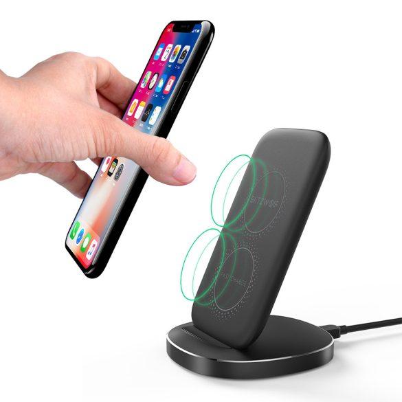 BlitzWolf Wireless Ladegerät, 10W mit 2-Spulen Faltbare schnelle Wireless Charger Pad Ständer